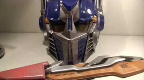 Transformers 2007 Movie Voice Changing Optimus Prime Helmet & Sword Blade Review