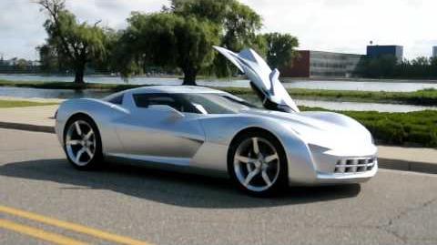 GM Corvette Stingray Concept Driven And Detailed
