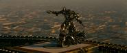 Megatron op een gebouw