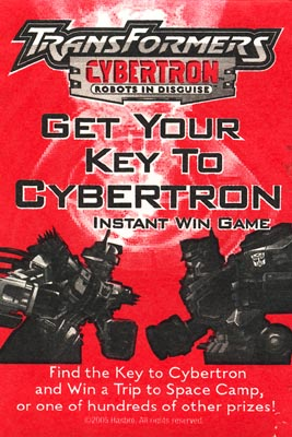 Get Your Key To Cybertron