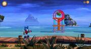Angry Birds Transformers Optimus Blasting a Pig.jpg