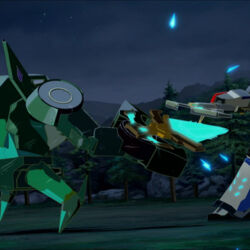 Clawtrap fighting with Strongarm.jpg