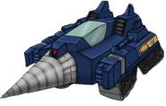 Transformers Victory Drillhorn drill tank
