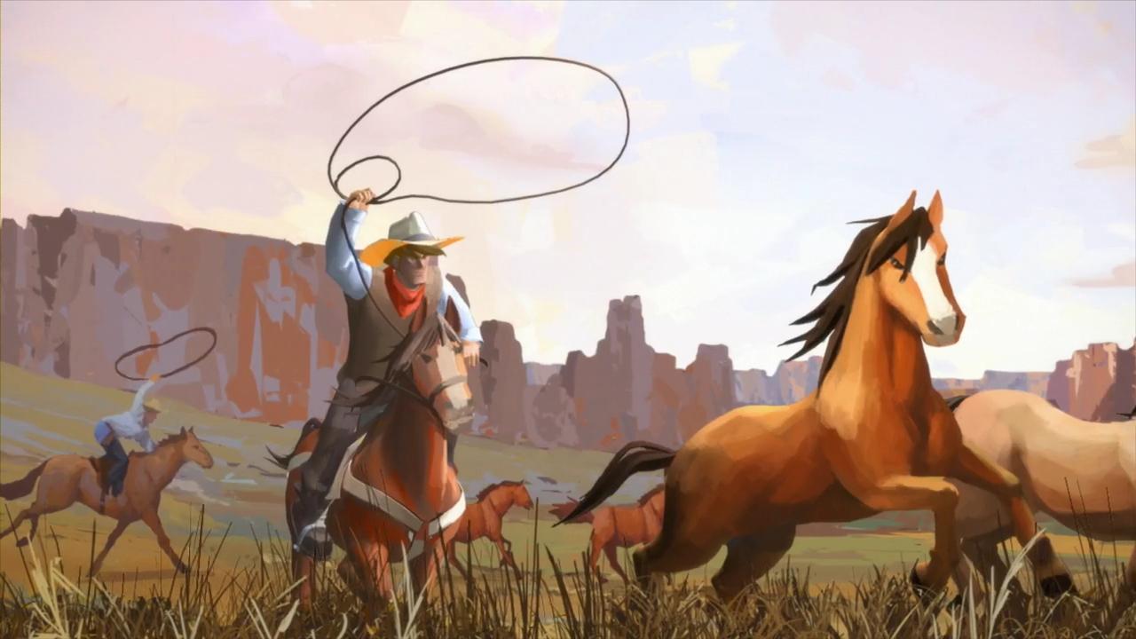 Cowboys auf Büffeljagd