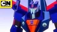 Transformers Cyberverse Windblade & Bumblebee Battle a Seeker Cartoon Network