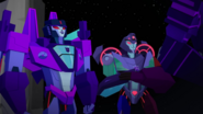 Slipstream and Shadow Striker in space (S1E16)