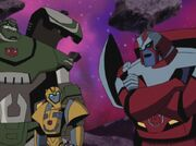 Transformers Animated Bulkhead Bumblebee and Ratchet.jpg