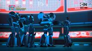 Cyclonus, Skyjack, Riotgear, Cyberwarp and Treadshock