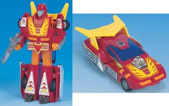 Transformers Autobot G1 Style Robot Toy Rodimus Prime with Trailer