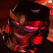 Megatron BW Lächelt und zeigt seine Zähne