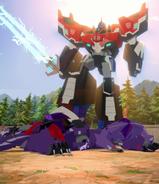 Optimus Prime, Fracture, Airazor & Divebomb (Battlegrounds, (1))