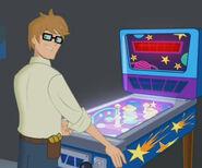 Graham play pinball