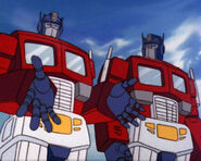 Optimus Prime and Optimus Prime clone