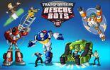Einige Charaktere aus der Serie Transformers: Rescue Bots