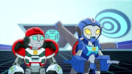 Whirl and Medix listening to Chase's lecture.