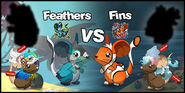 Feathers vs Fins