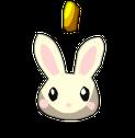 Boucle d'oreille lapin