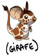 Fourrure de girafe croquis