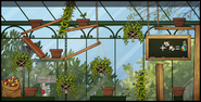 Greenhouse map with hanging pots