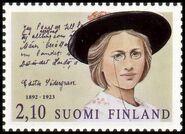 Edith Södergran on Finn stamp