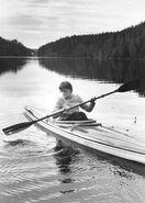 Eeva-Liisa Manner going boating