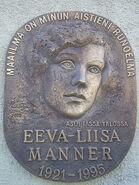 The headstone of Eeva-Liisa Manner