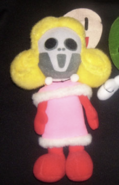 Cupid skull plushy