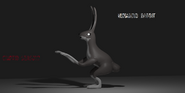 Humanoid rabbit in 3D