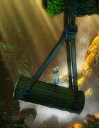 Pendulum Log - close up