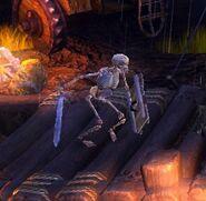 Shield Skeleton - close up