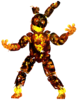 Damaged Flaming Springtrap