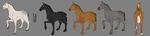 Knights' horses design