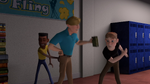 It about time - Seamus knocks Steve's books down instead (3)