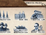 Edicts (Tropico 3)/Domestic Policy