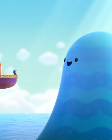 16-The Living Sea-Living Sea appears in front of True, Bartleby, and the Rainbow King.jpg