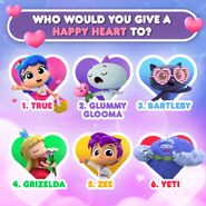 What would you give a happy heart to