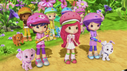 Strawberry is explaining the rules of the race
