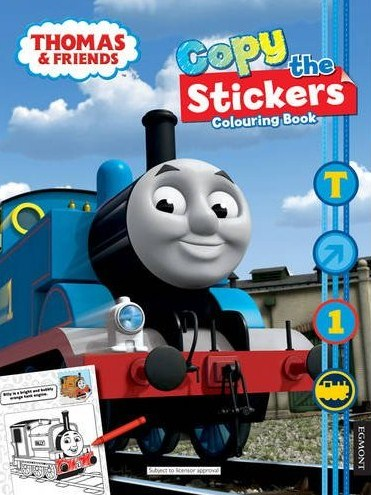 Copy the Stickers Colouring Book