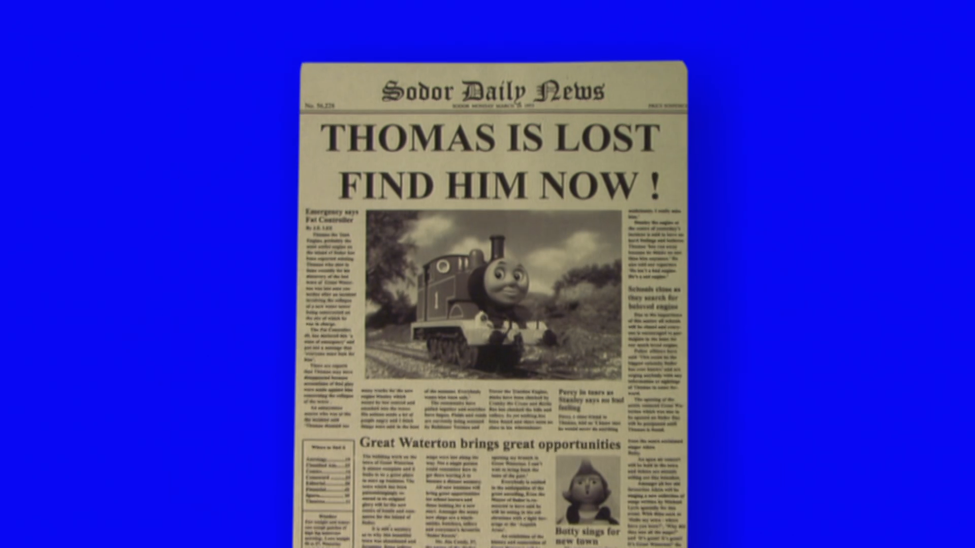 Where, oh Where is Thomas?