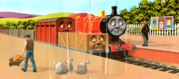 JamestheRedEngineandtheTroublesomeTrucks6