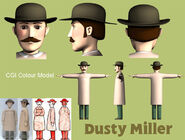 Dusty Miller CGI Colour Model