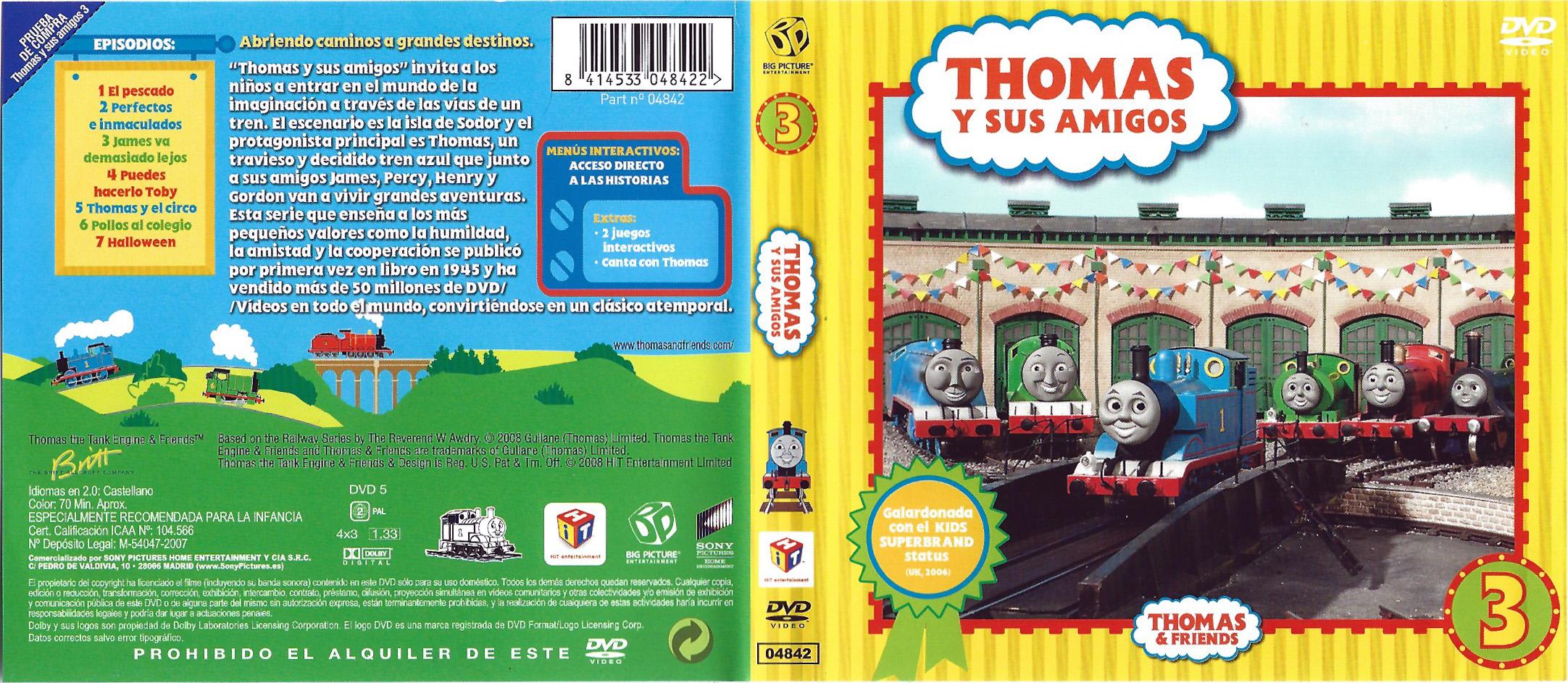 Thomas and Friends - Volume 3 (Spanish DVD)