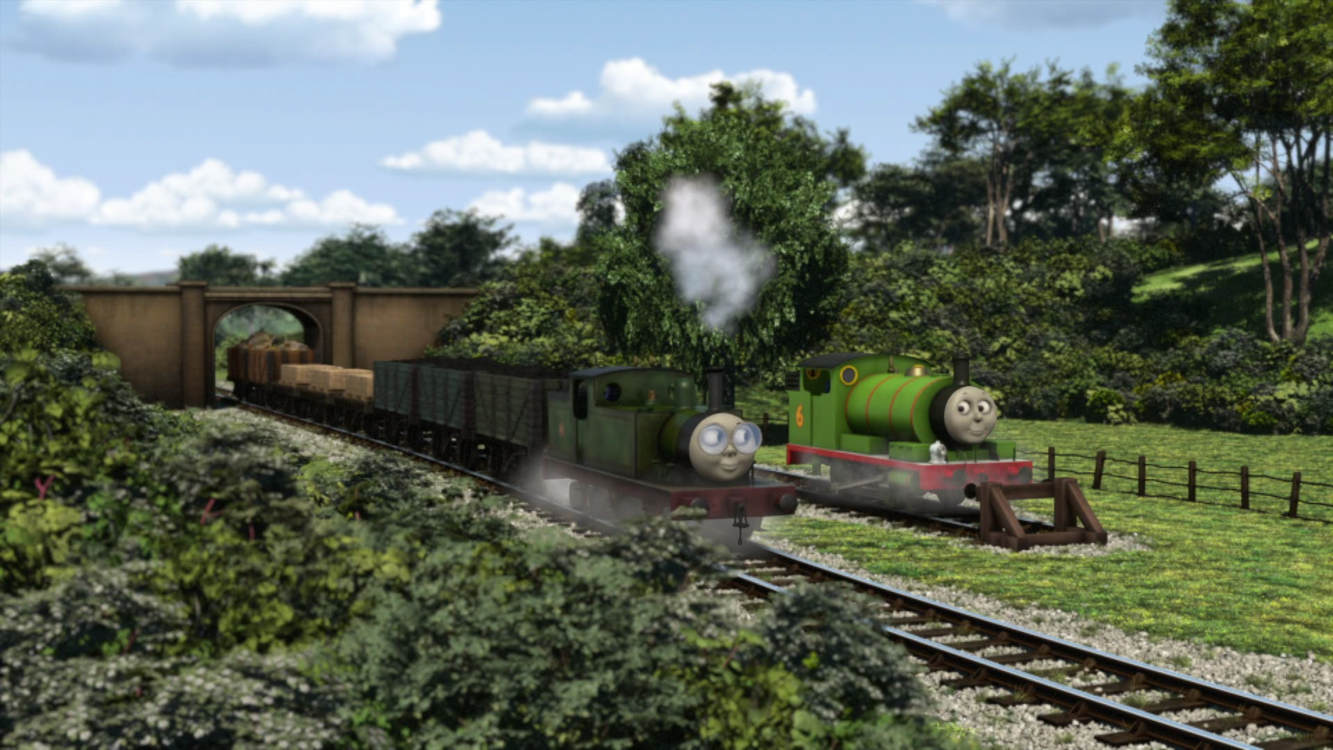Single Track Siding and Bridge Runby