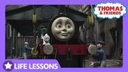 Emily is Impressed with Caitlin Life Lesson Helping Others Thomas & Friends UK