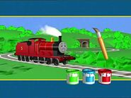 Thomas & Friends - Learning Segment- Painting a Picture of James - UK