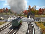 Three-Track Level Crossing