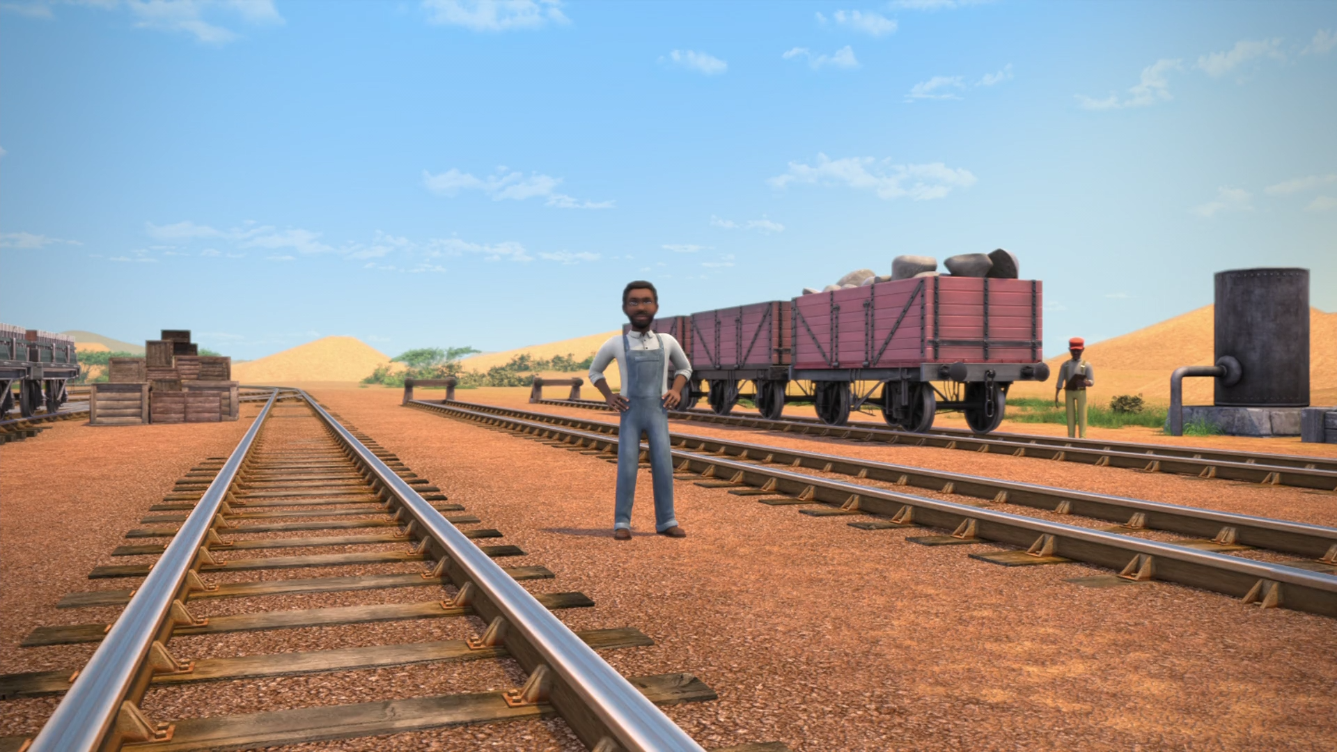 Mauritanian Railway Shunting Yard