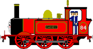 Sandy the Red Tank Engine