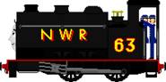 Pug the Black Saddle Tank Engine