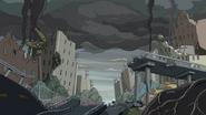 Betty cidade em ruínas